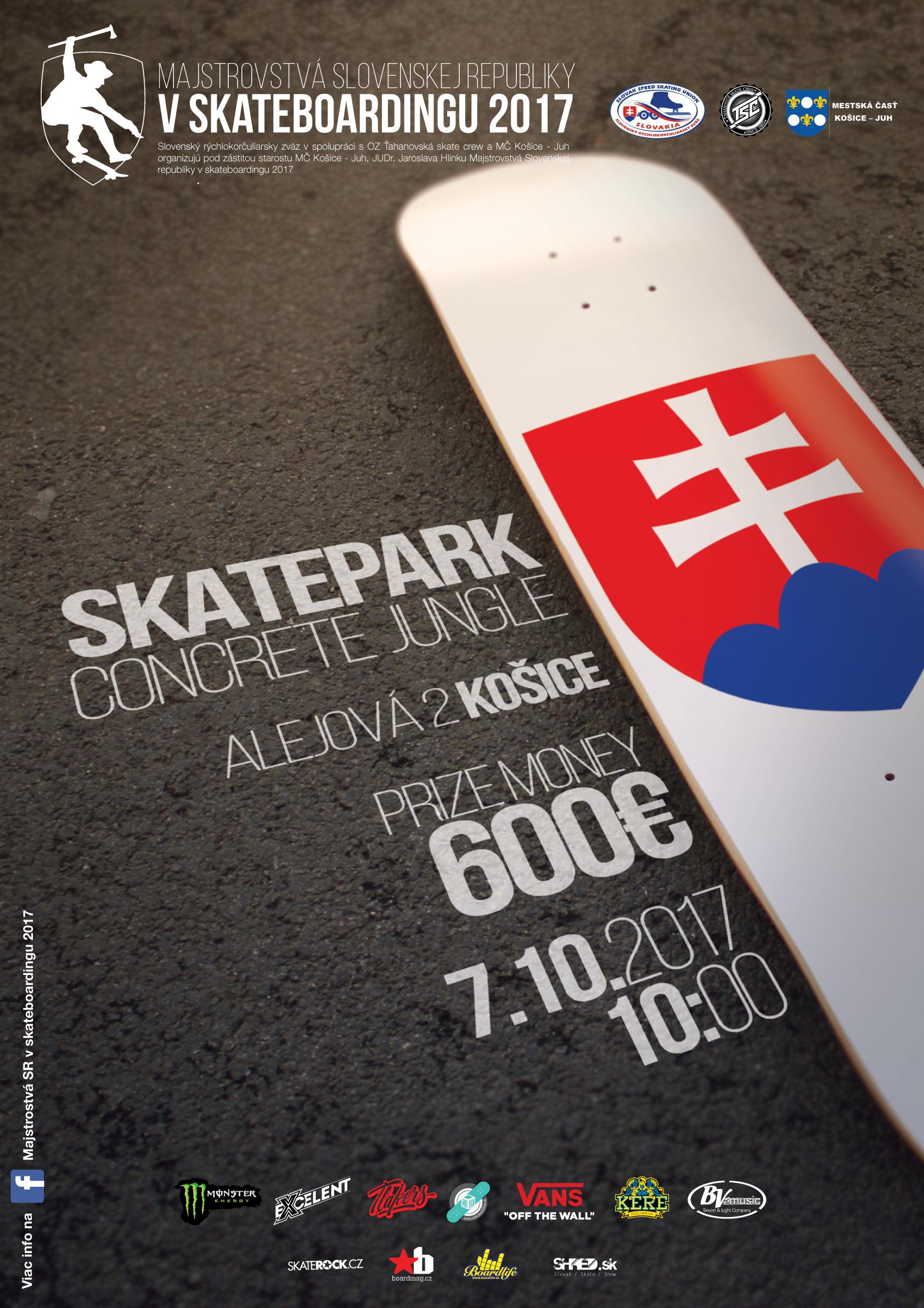 Skateboarding : Majstrovstvá Slovenska, 7.10.2017 Košice