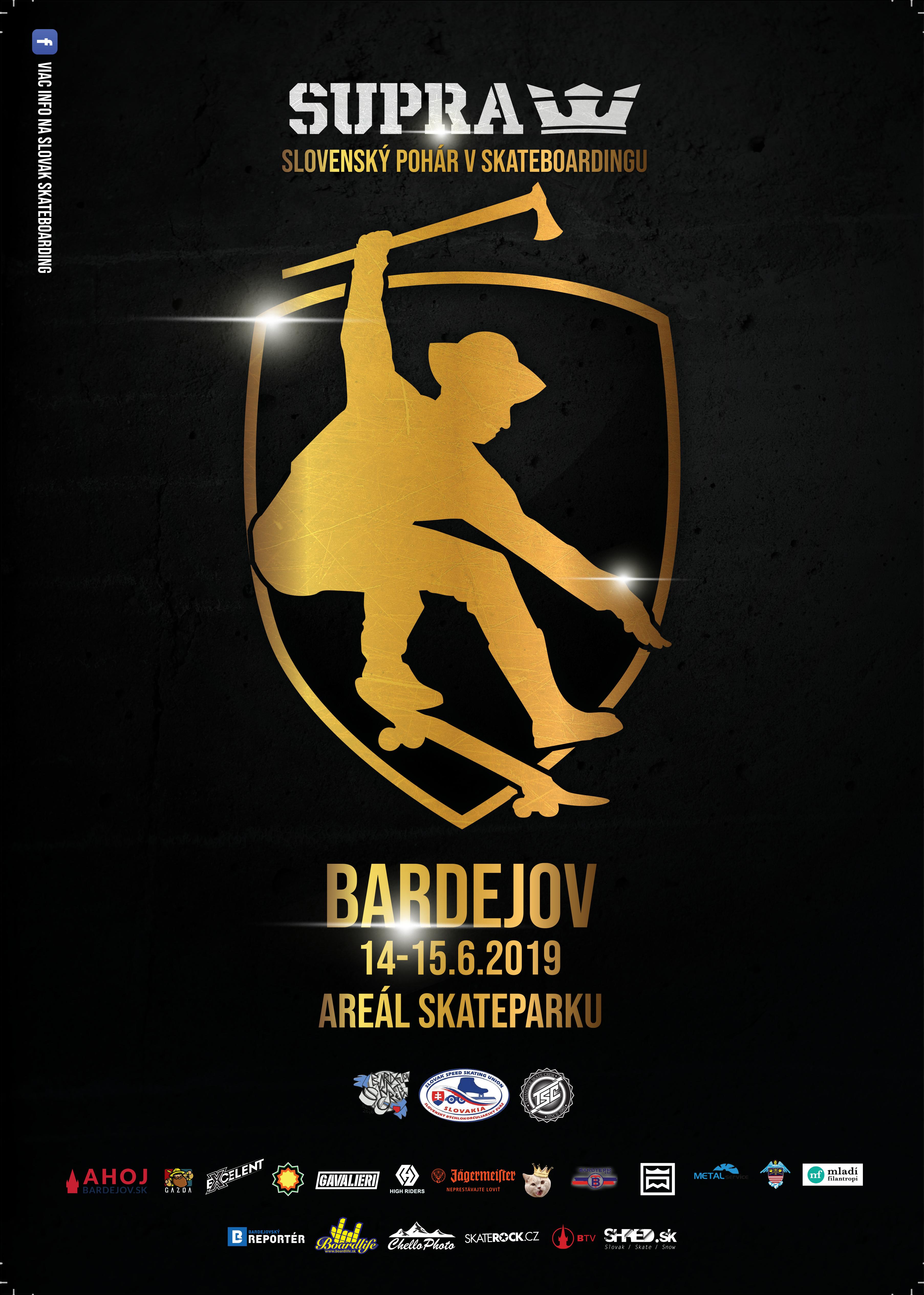 Skateboarding: 1. kola SUPRA Slovenského pohára  2019, 15.6.2019 Bardejov