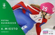 Short Track: Petra Rusnáková  na 500 metrov na 6. mieste, Zimné Olympijské Hry Mládeže, Lausanne (SWI) 2020 – 500 m